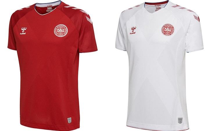 Δύο μονόχρωμες φανέλες θα φοράει και η Δανία σε αυτό το Παγκόσμιο Κύπελλο.  Η πρώτη θα είναι κόκκινη με λευκά σχέδια στα μανίκια 76b4a47f528